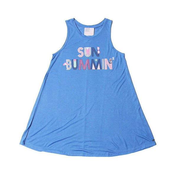 Women's Tee Shirts - Sun Bummin' Beach Coverup In Flo Blue By Jadelynn Brooke - FINAL SALE
