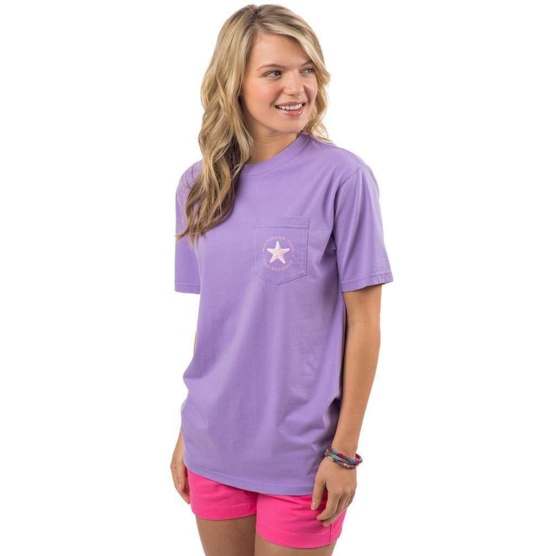 Take Time To Coast Pocket Tee Shirt in Lilac Purple by Southern Tide - FINAL SALE