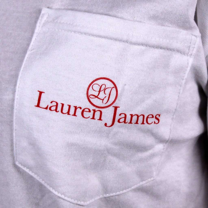 Women's Tee Shirts - Taking My Talents South Long Sleeve Tee In White By Lauren James - FINAL SALE