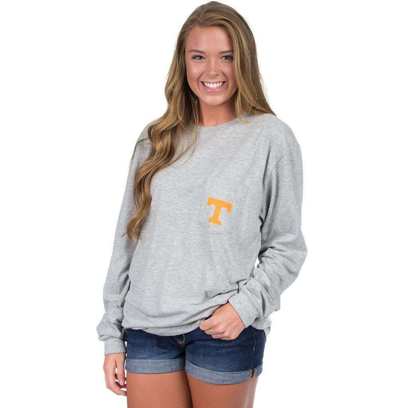 Tennessee Long Sleeve Stadium Tee in Heather Grey by Lauren James