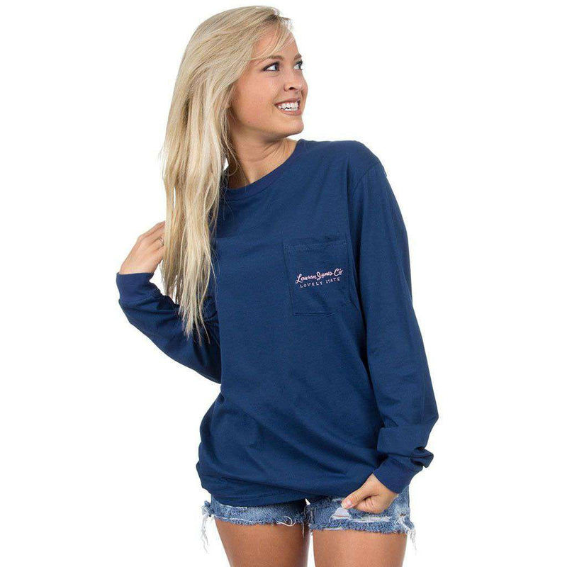 Texas Love Long Sleeve Tee in Navy by Lauren James - FINAL SALE