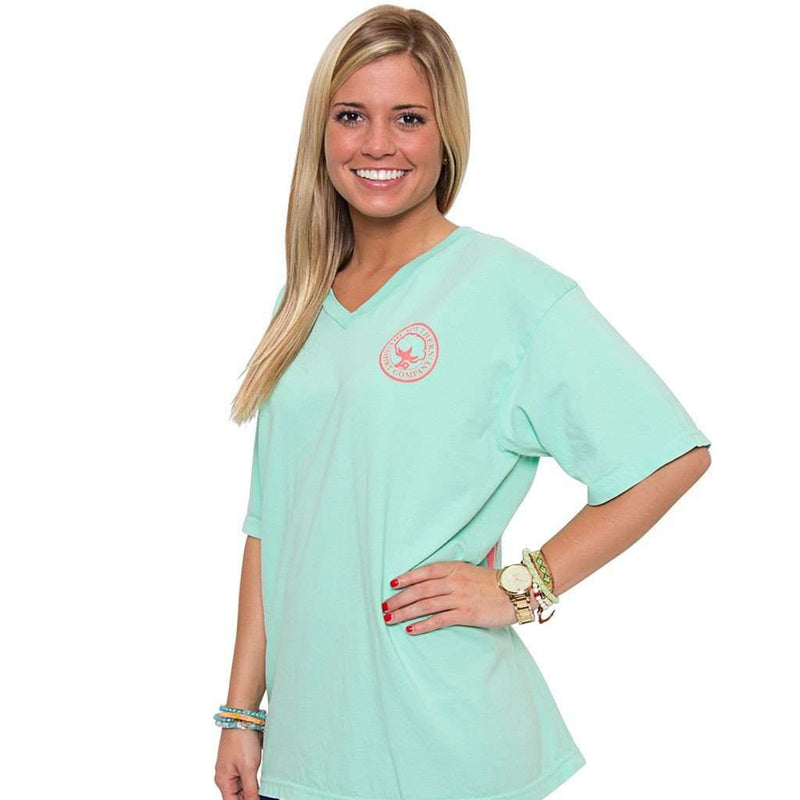 Women's Tee Shirts - The Carly V-Neck Tee In Reef By The Southern Shirt Co.
