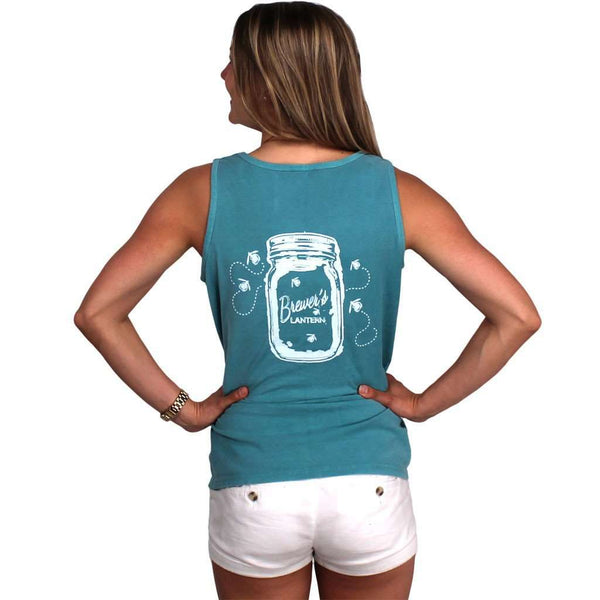 The Mason Jar Tank in Seafoam Green by Brewer's Lantern