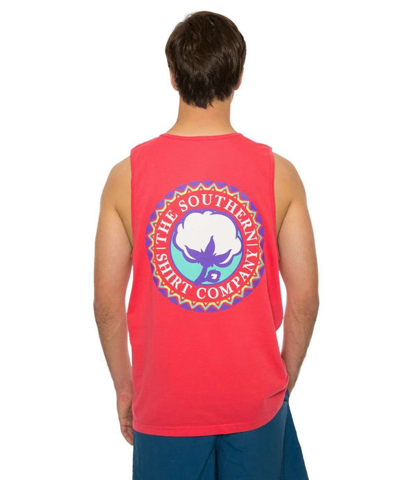 Tribal Tank Top in Tropical Red by Southern Shirt Co.