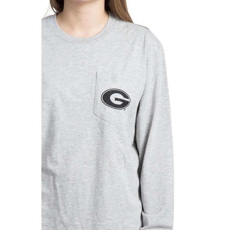 39c228967368 Women's Tee Shirts - University Of Georgia Long Sleeve Stadium Tee In  Heather Grey By Lauren