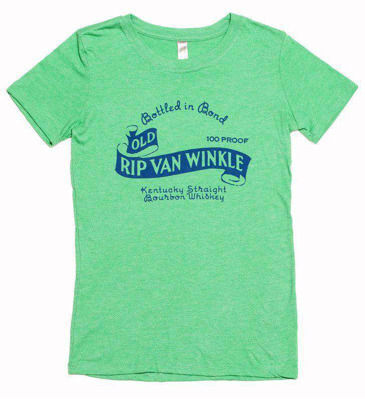 Women's Tee Shirts - Vintage Old Rip Van Winkle Tee In Green By Pappy Van Winkle - FINAL SALE