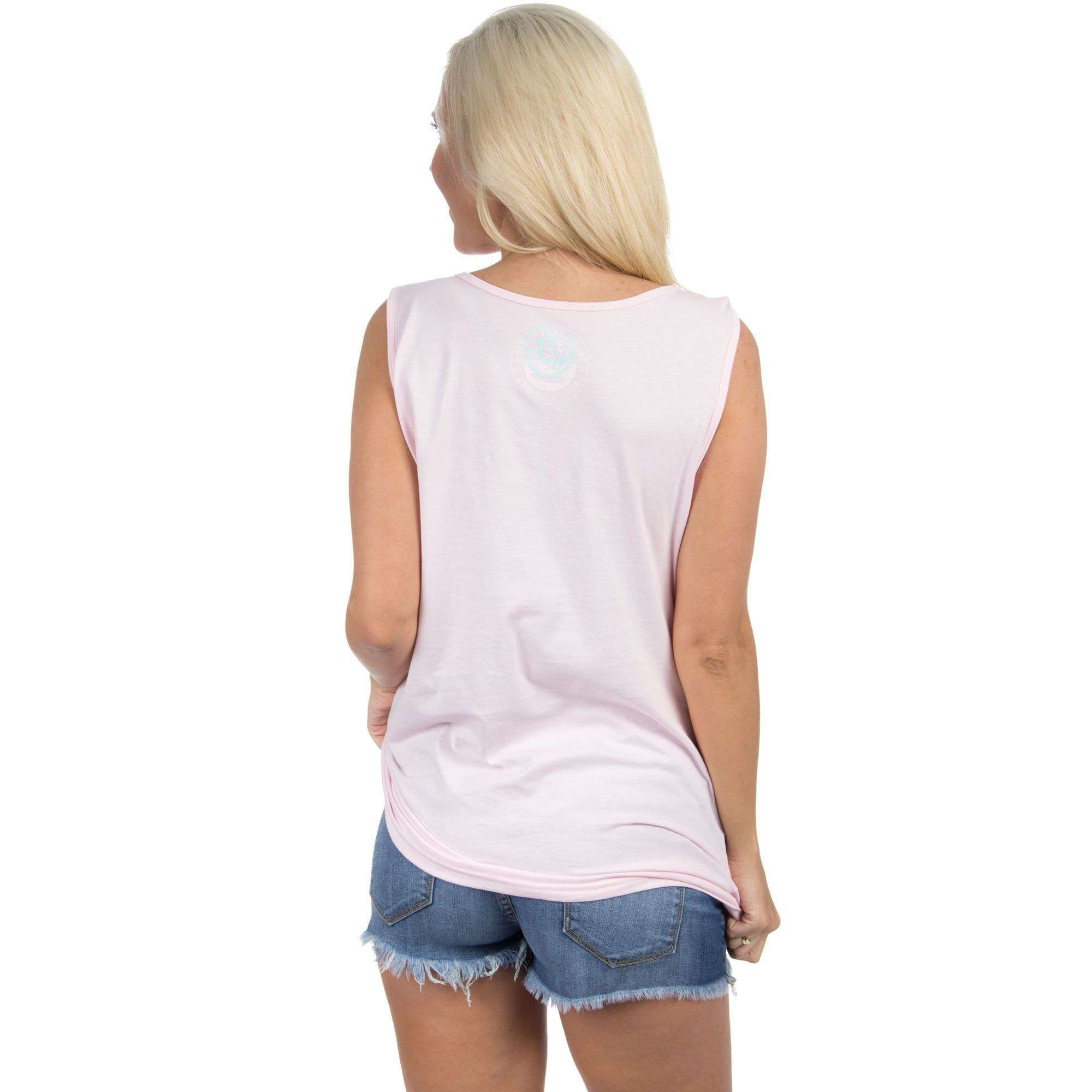 Women's Tee Shirts - Virginia Lovely State Pocket Tank Top In Pink By Lauren James