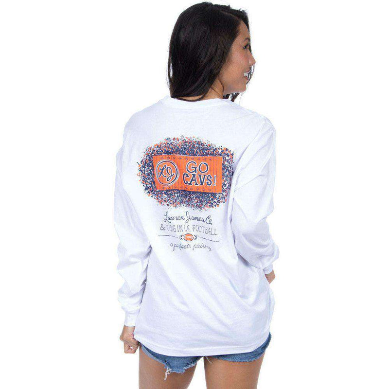 Women's Tee Shirts - Virginia Perfect Pairing Long Sleeve Tee In White By Lauren James