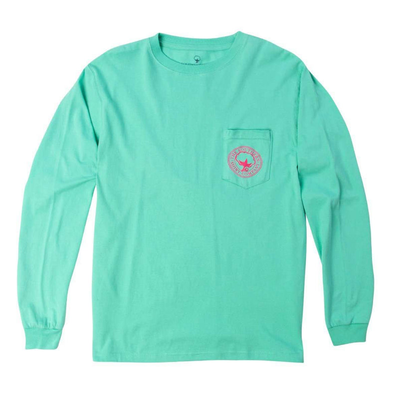 Watercolor Logo Long Sleeve Tee Shirt in Florida Keys by The Southern Shirt Co.