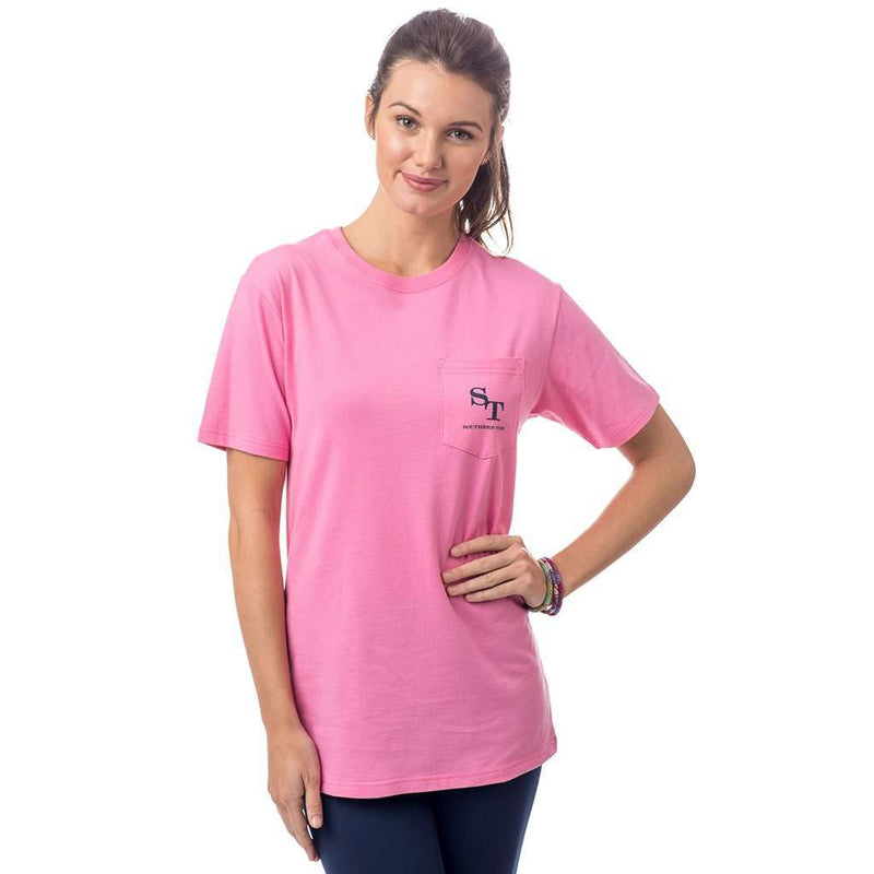 Women's Skipjack Graphic T-Shirt in Smoothie Pink by Southern Tide