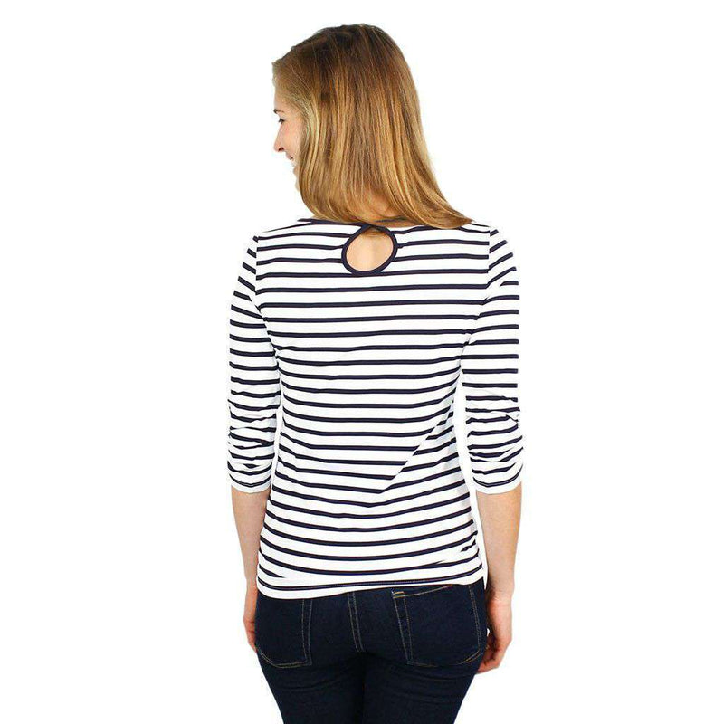 Anemone Striped Shirt in White and Navy by Saint James