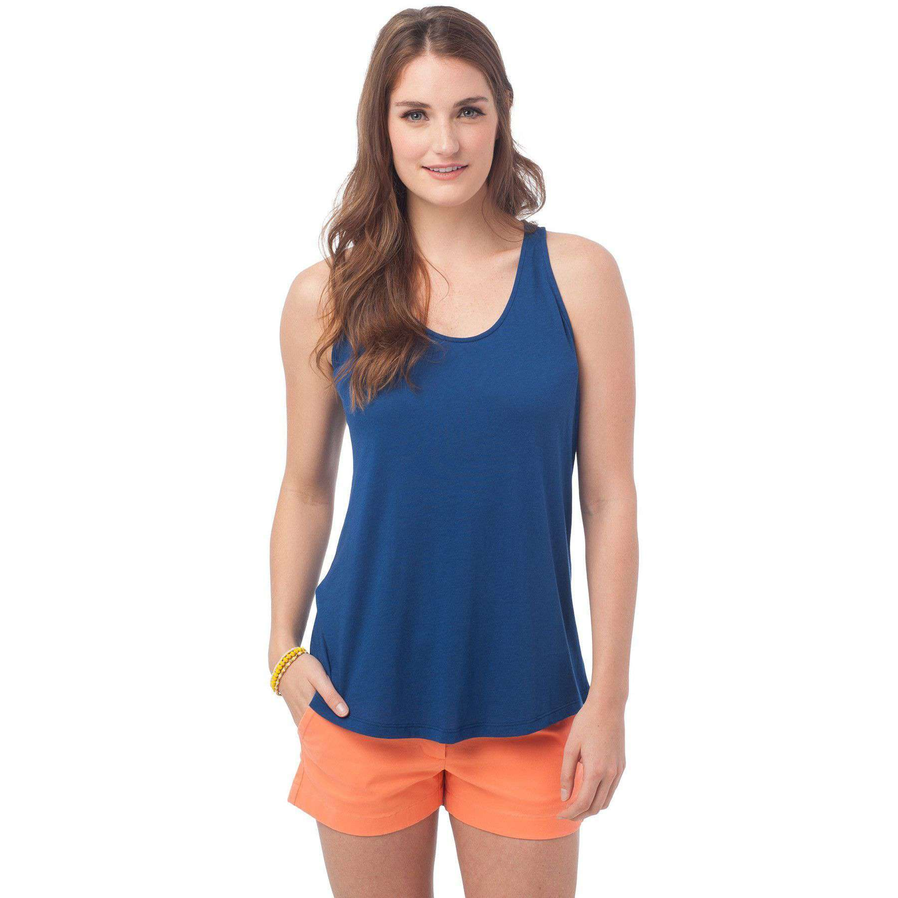 Women's Tops - Anna Tank In Yacht Blue By Southern Tide - FINAL SALE