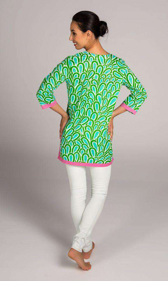 Annabelle Cotton Tunic in Aqua by Malabar Bay - FINAL SALE