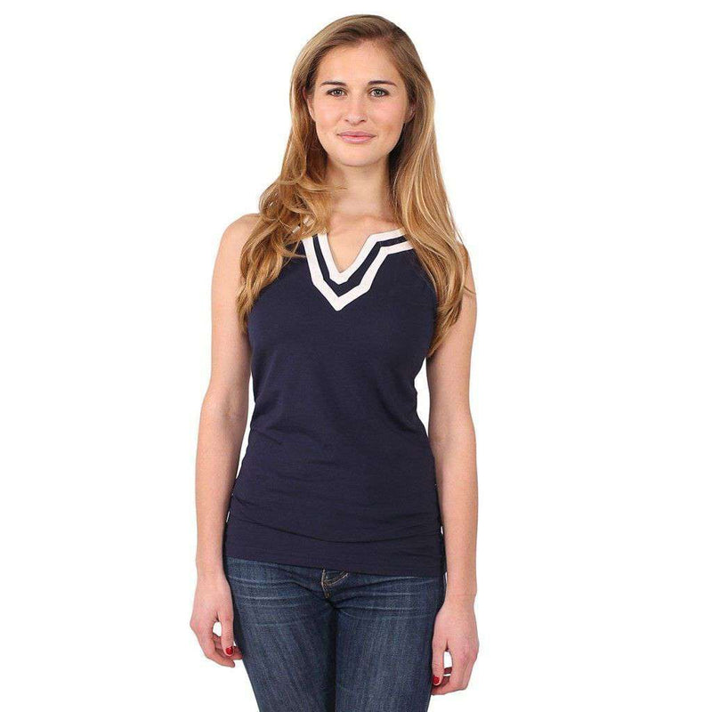 Babbit Top in Navy by Duffield Lane - FINAL SALE