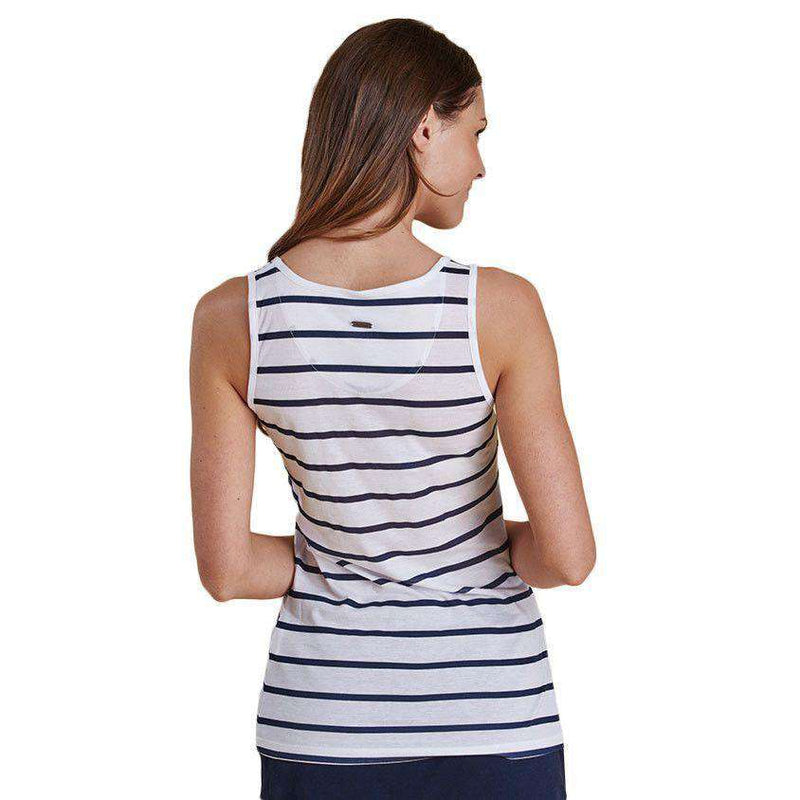 Women's Tops - Berryhead Vest In Navy/White By Barbour - FINAL SALE