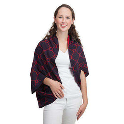 Women's Tops - Bowline Shrug In Navy And Red By Top It Off - FINAL SALE