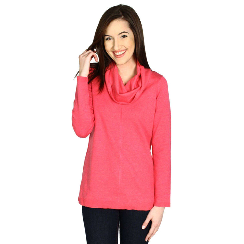 Women's Tops - Cashmere Cowl Tunic In Raspberry By Tyler Boe - FINAL SALE