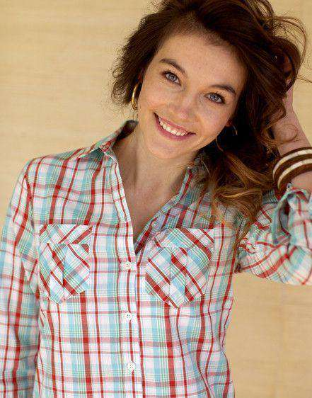 Women's Tops - Cathy Jo Shirt In Round Hill Plaid By Kayce Hughes