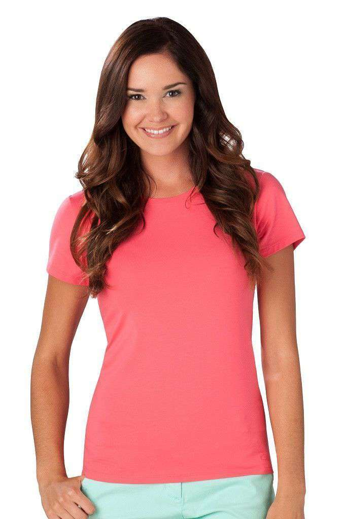 Women's Tops - Cew Neck Tee In Red By Southern Tide