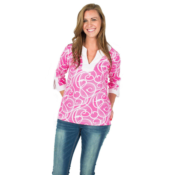 Women's Tops - Chatham Tunic In Keely Pink By Melly M