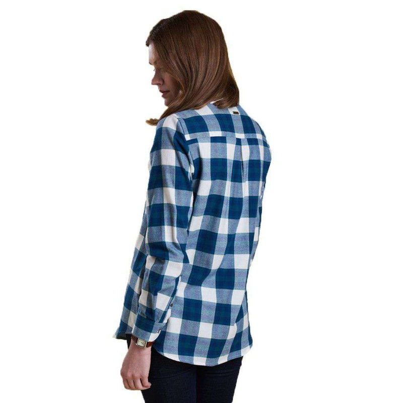 Women's Tops - Combe Relaxed Fit Shirt In Sage By Barbour - FINAL SALE