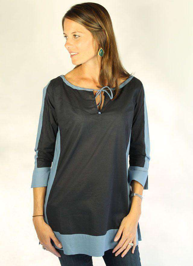 Women's Tops - Cotton Mondrian Tunic In Nickel By Gretchen Scott Designs - FINAL SALE