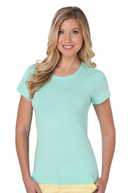 Women's Tops - Crew Neck Tee In Ice Green By Southern Tide