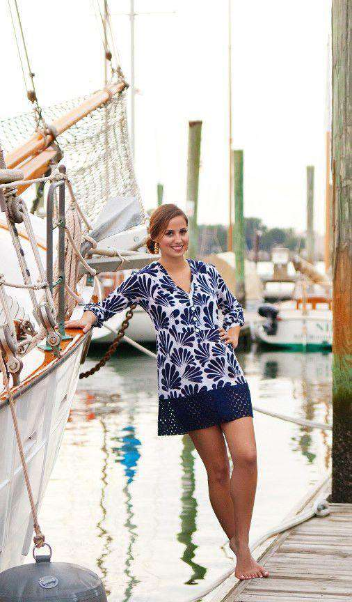 Curacao Tunic in Navy by Southern Frock