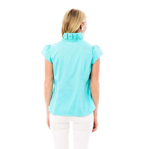 Women's Tops - Elizabeth Shirt In Turquoise By Elizabeth McKay