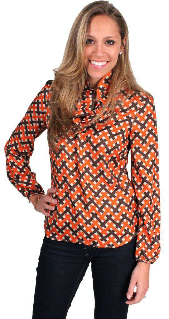 Women's Tops - Elizabeth Shirt Silk In Thatch Small By Elizabeth McKay
