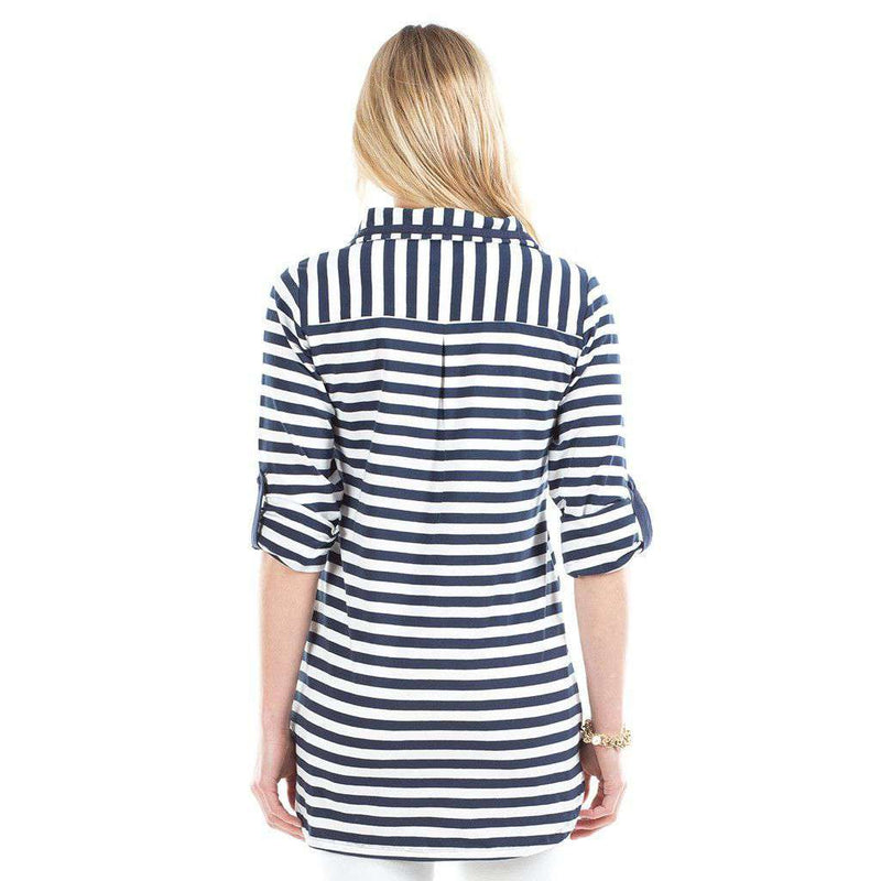 Emma Stripe Top in Navy/White by Duffield Lane - FINAL SALE