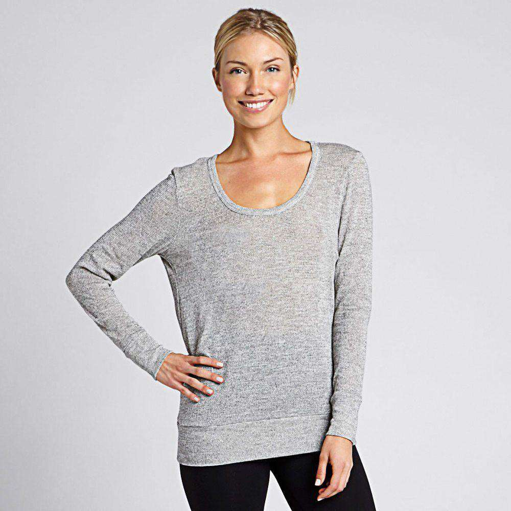 Women's Tops - Feel The Breeze Sweater In Marled White By Beyond Yoga - FINAL SALE