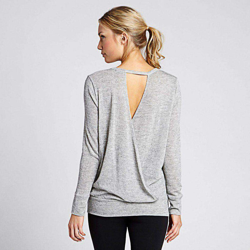 Feel the Breeze Sweater in Marled White by Beyond Yoga - FINAL SALE
