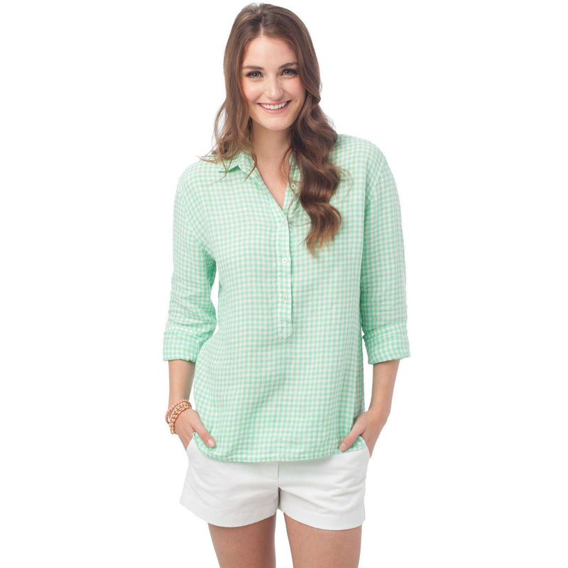Women's Tops - Hadley Popover In Starboard Gingham By Southern Tide