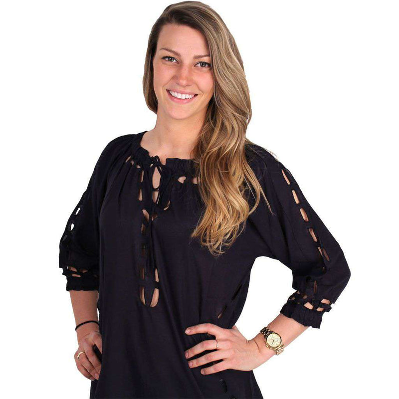 Women's Tops - Holy Cotton Top In Navy By Gretchen Scott Designs - FINAL SALE