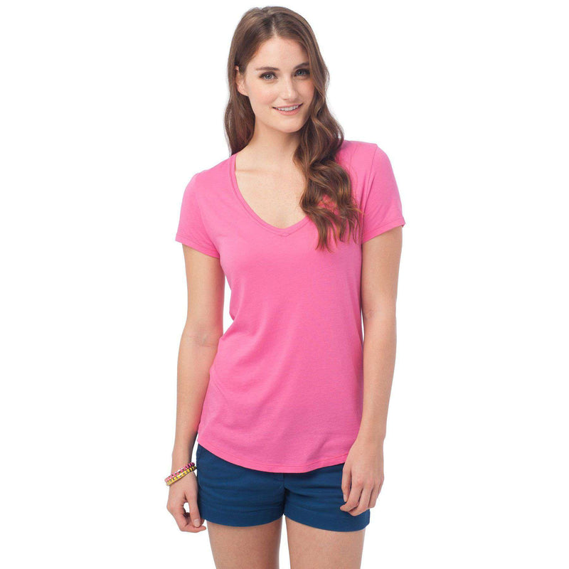 Women's Tops - Katherine Tee In Berry By Southern Tide