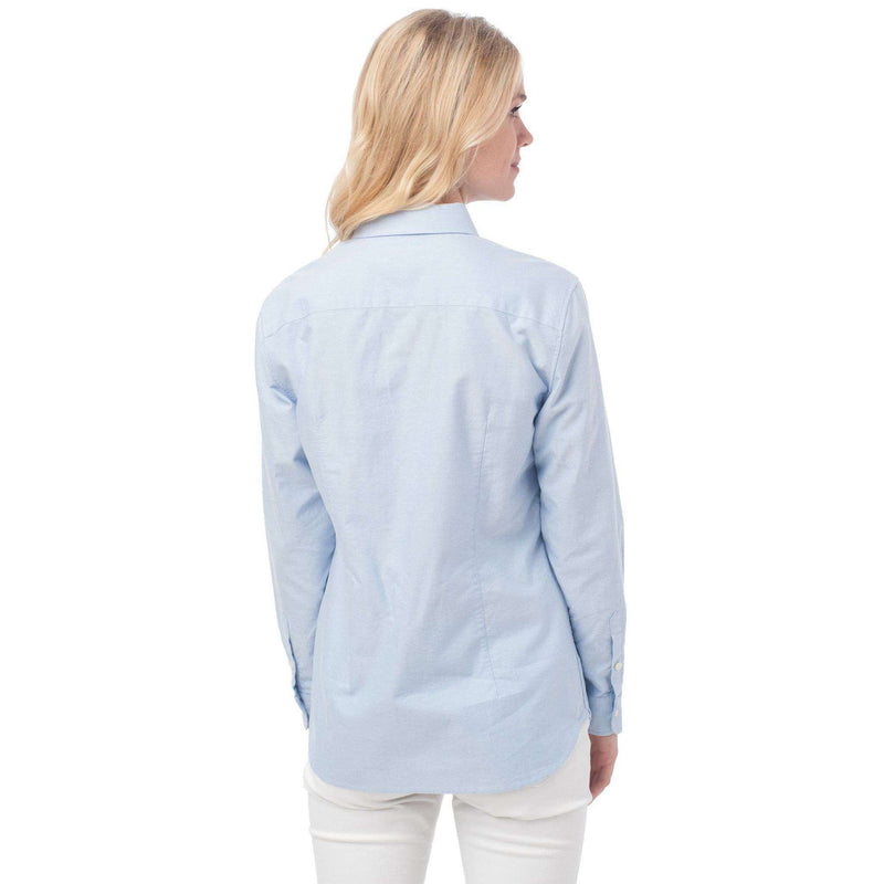 Women's Tops - Madison Oxford Shirt In Boat Blue By Southern Tide