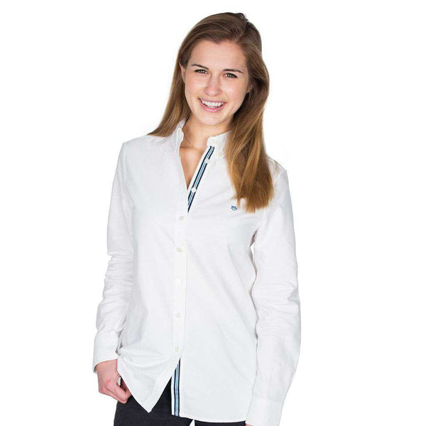 Women's Tops - Madison Oxford Shirt In Classic White By Southern Tide