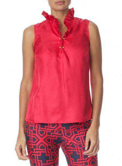 Women's Tops - McKay Blouse In Raspberry By Elizabeth McKay