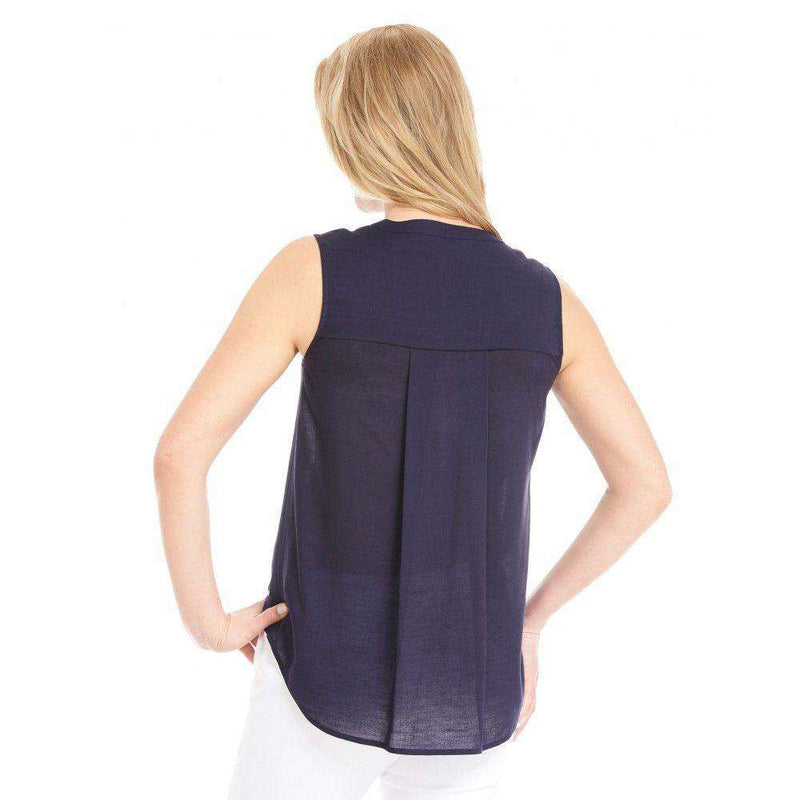 Navy Sleeveless Blouse by Hatley - FINAL SALE