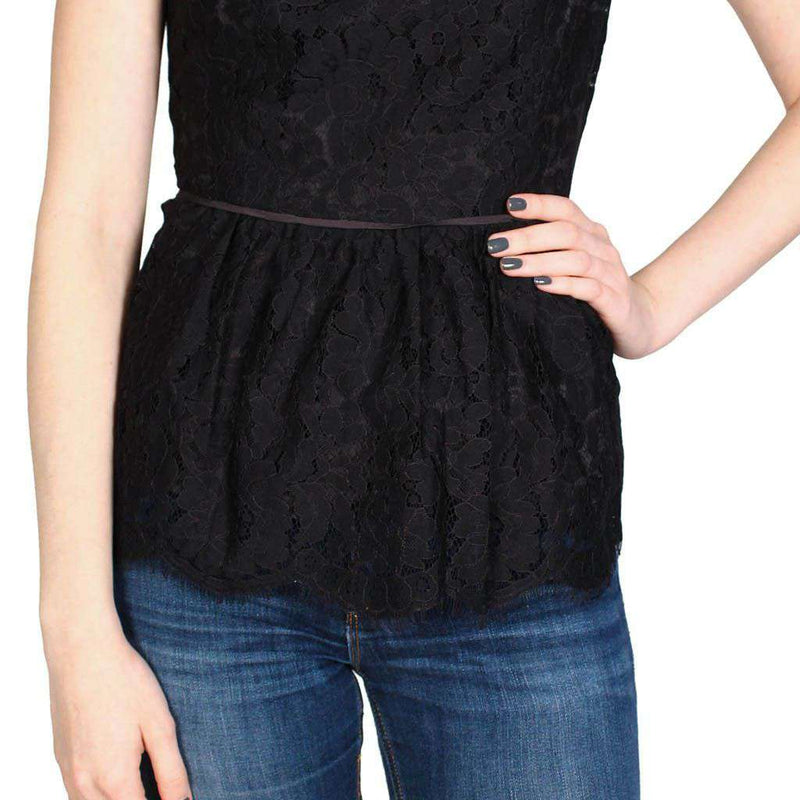 Peplum Party Top in Black Lace by Sail to Sable