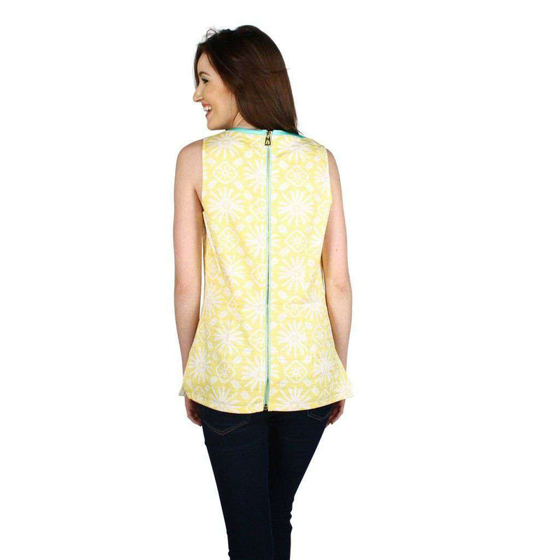 Printed for Polo Top in Yellow Sun by Sail to Sable - FINAL SALE