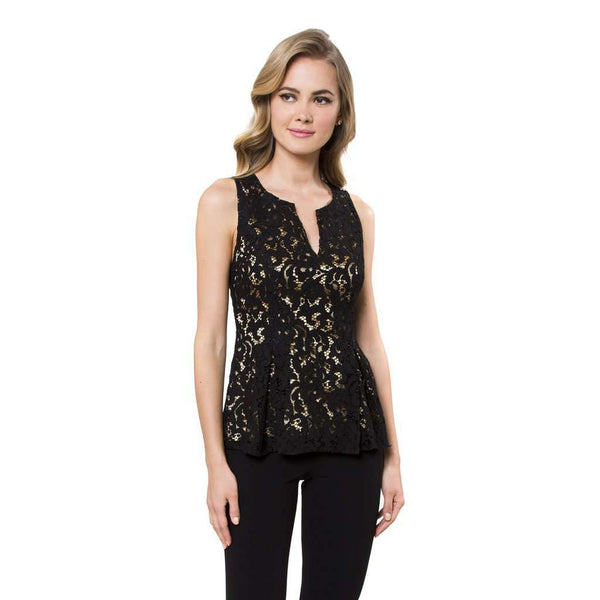 Women's Tops - Sloane Blouse In Buckingham Lace By Julie Brown - FINAL SALE