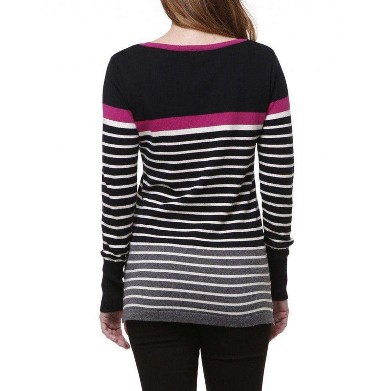 Women's Tops - Striped Sweater In Black And Cream By Hatley - FINAL SALE