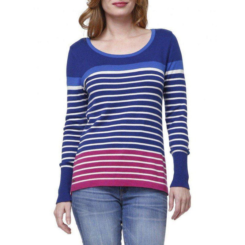 Striped Sweater in Navy and Cobalt by Hatley - FINAL SALE