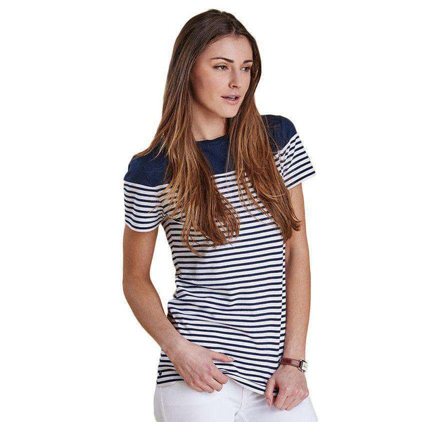 Teesport Top in Navy by Barbour