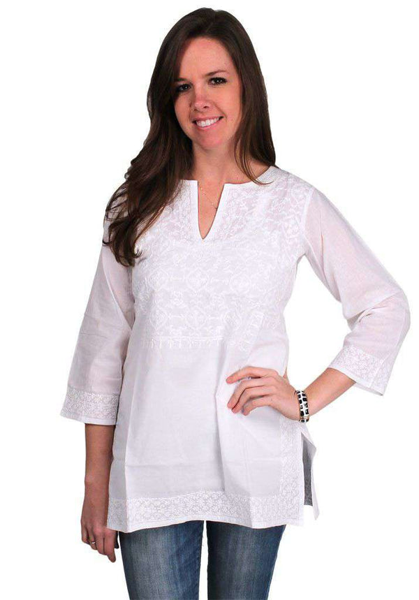 The Quiet Tunic in White by Gretchen Scott Designs - FINAL SALE