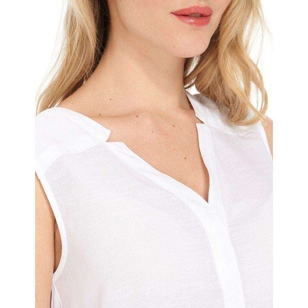 White Sleeveless Blouse by Hatley - FINAL SALE