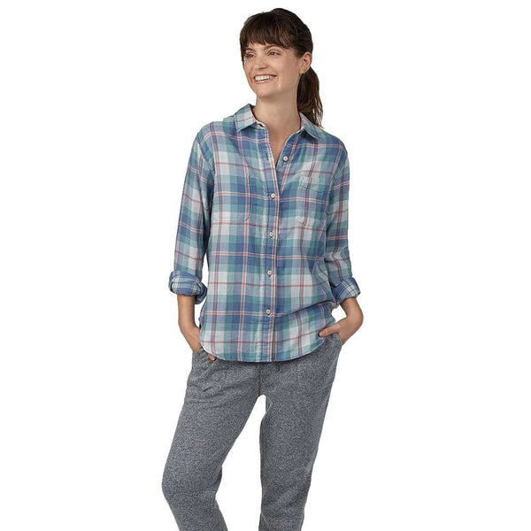 Women's Reversible Belmar Shirt in Late Summer Plaid by Faherty - FINAL SALE