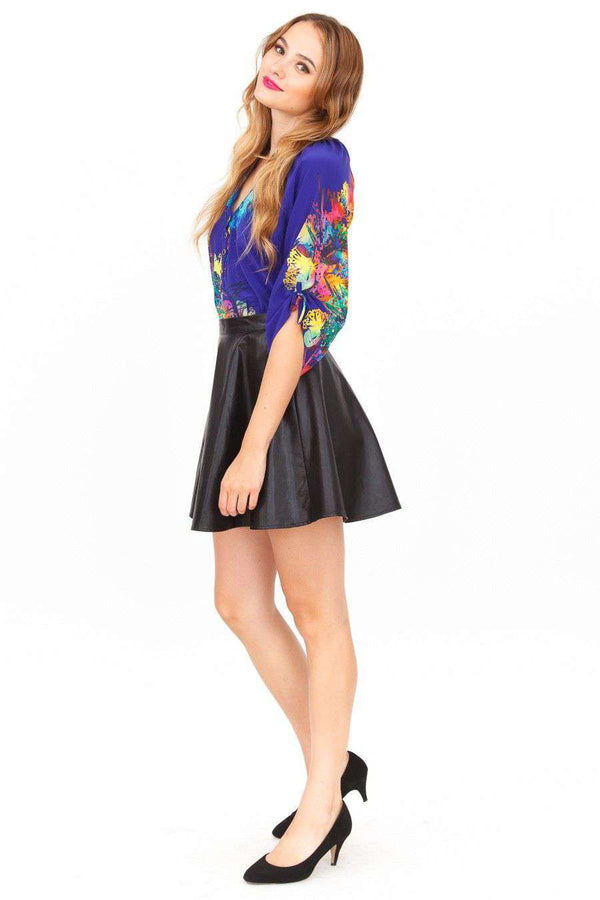 8455c2b5aede6 ... Women s Tops - Yumi Top In Dodger Blue Electric Reef By Yumi Kim